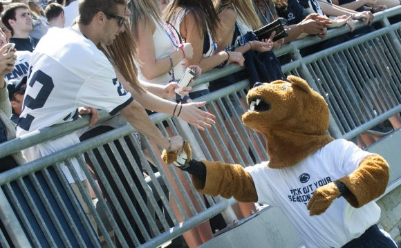 Nittany Lion at Blue-White