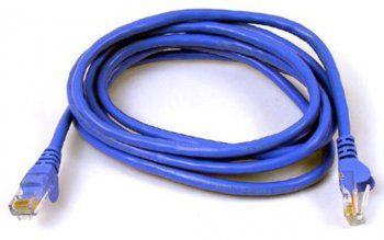 Twisted-pair Ethernet cable with RJ-45 connectors.