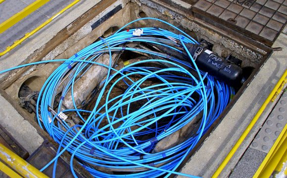 Underground Fiber Optic cable Installation