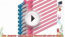 15m - magenta - 10 piezas - CAT6 Ethernet LAN cable de red