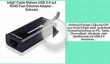 Cable Matters USB 2.0 auf RJ45 Fast Ethernet Adapter