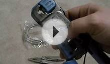 Cat5 Cat6 ethernet end crimp tutorial for shortening cable