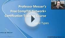 CompTIA Network+ N10-004: 2.1 – Cable Types « Professor