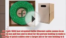 GadKo Bulk Cat5e Green Ethernet Cable Round Stranded UTP