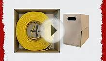 GadKo Bulk Cat5e Yellow Ethernet Cable Round Stranded UTP
